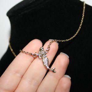 Gold mermaid necklace adjustable